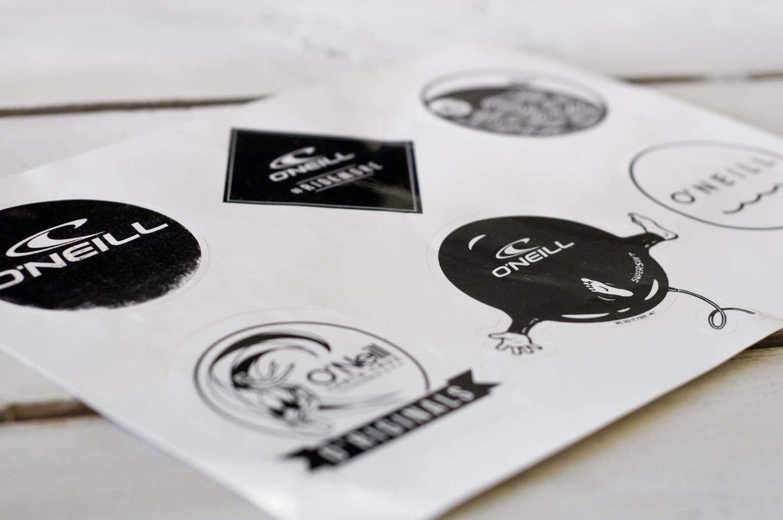 zeefdruk Vinyl Stickers op vel