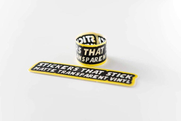 Mat Transparante stickers