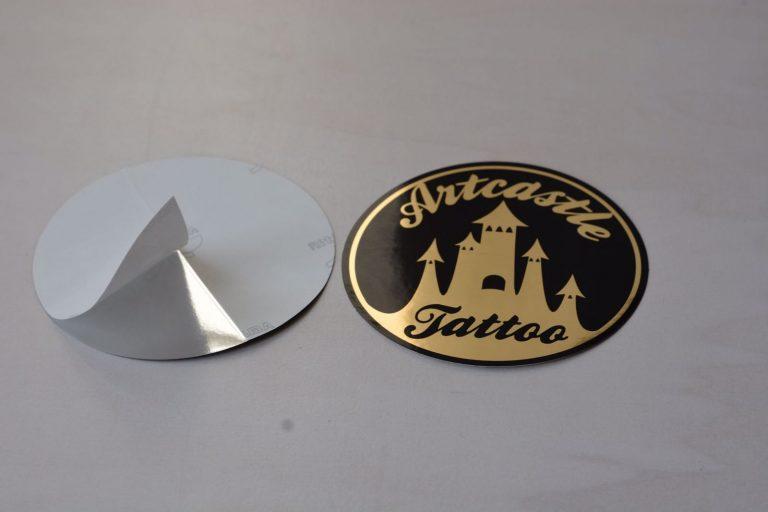 Goudfolie Stickers in zeefdruk